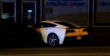 Corvette C7 Crashes into Parked Car After Doing Donuts (1)