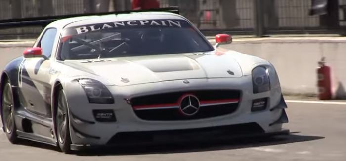Mercedes sls amg gt3 on the track video dpccars for Mercedes benz sls amg gt3 price