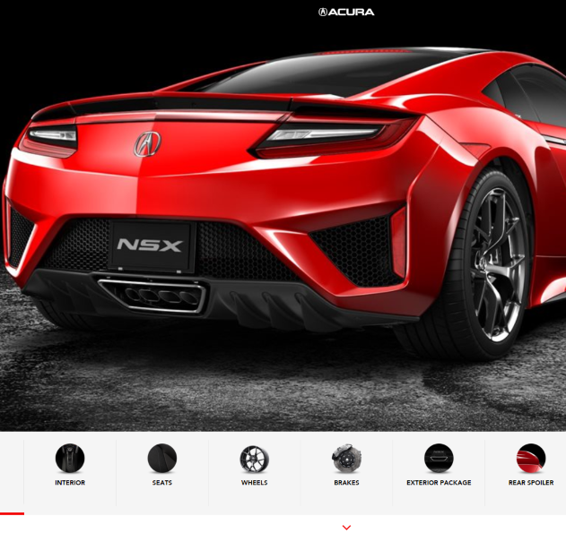 New Acura NSX Configurator Is Out