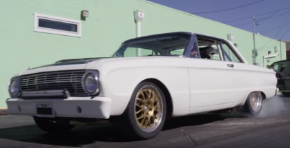 Nicely modified 1963 Ford Falcon tearing up the streets (1)
