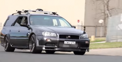 Nissan C34 Stagea with GTR Front End (1)
