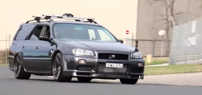 Mazda Gtr Turbo >> Nissan C34 Stagea with GTR Front End – Video | DPCcars