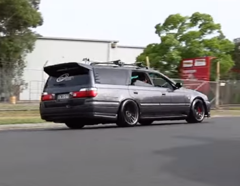 Nissan C34 Stagea With Gtr Front End Video Dpccars