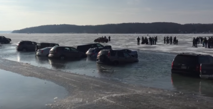 Parking on a frozen lake is a huge mistake (1)