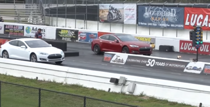 Tesla Model S P90D Ludicrous runs 11.2 At 118.4 MPH (1)