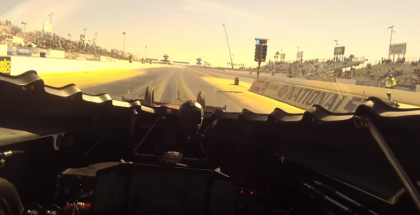 This is what it looks like running 3.77 at 316 mph in a NHRA Top Fuel Car (1)