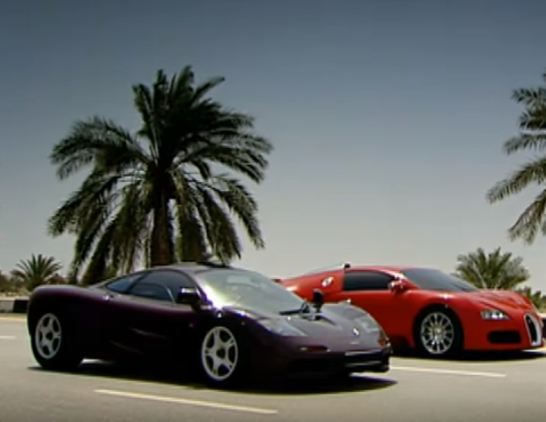top gear bugatti veyron vs mclaren f1 dpccars. Black Bedroom Furniture Sets. Home Design Ideas