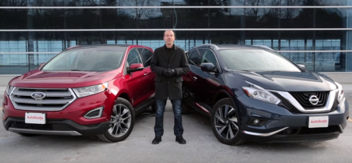 2016 Ford Edge Vs Nissan Murano Video