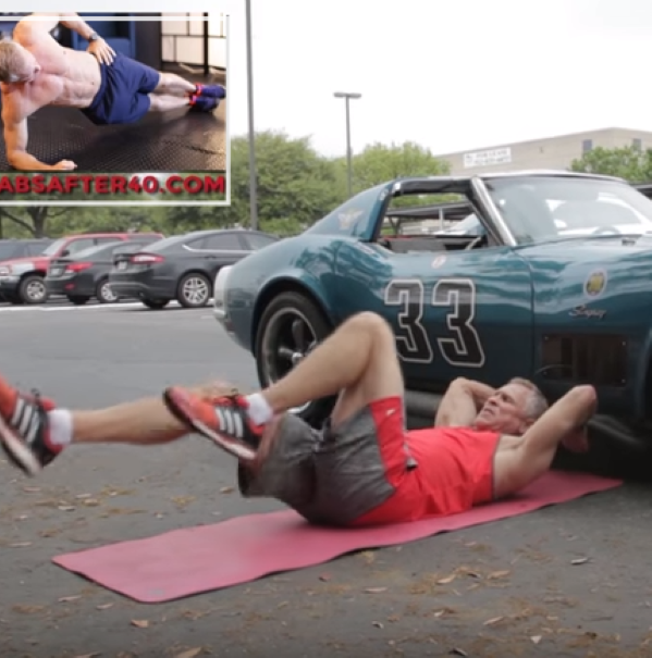 53 Year Old Man Working Out With His Corvette Video
