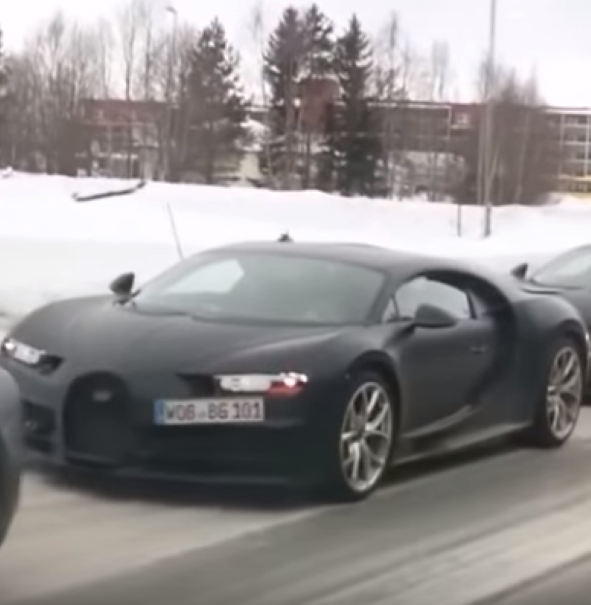 Four Bugatti Chiron's Testing In Snow And Ice