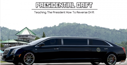 Presidential Limo Drift In Reverse (1)