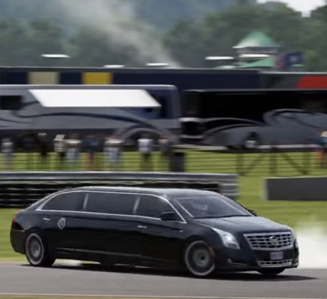 Presidential Limo Drift In Reverse – Video   DPCcars