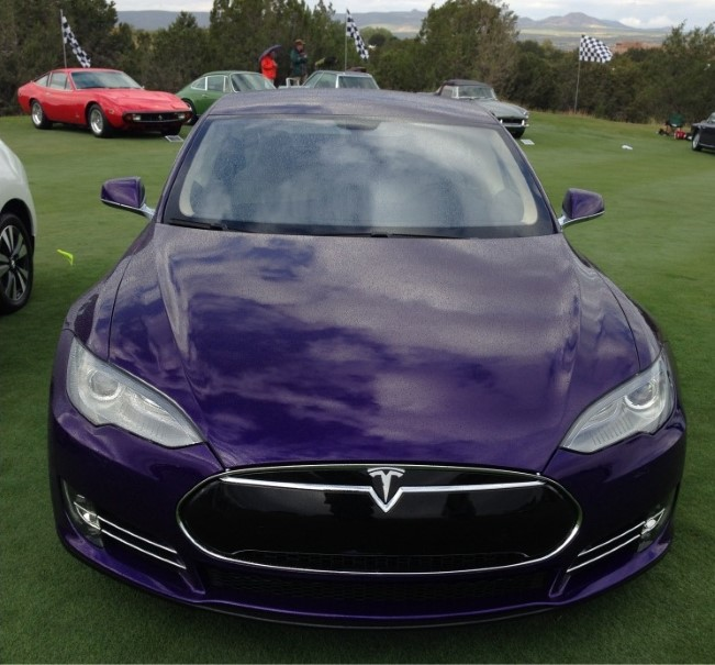 Game Of Thrones George R. R. Martin Loves His Purple Tesla