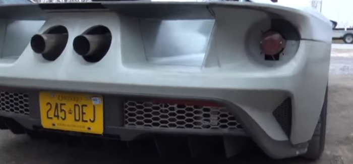 Ford Gt Prototype Exhaust Sound Video