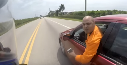 Car vs Motorcycle Extreme Road Rage (1)