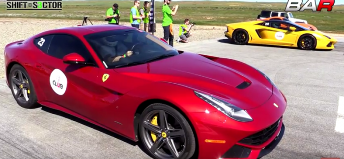 Drag Race – Ferrari F12 berlinetta vs Lamborghini ...