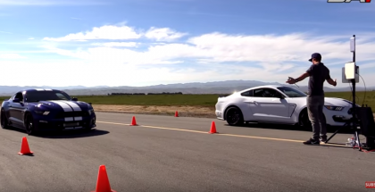 Drag Race - Tuned Shelby GT350 vs Supercharged Mustang GT (1)