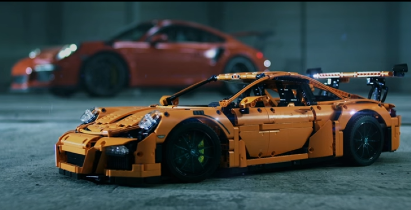 porsche 911 gt3 rs lego technic video dpccars. Black Bedroom Furniture Sets. Home Design Ideas