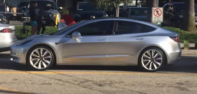 Tesla Model 3 Spotted On Public Road Filming Video Dpccars
