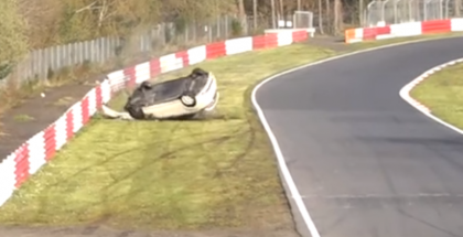 Honda Type-R crash and roll over at the Nürburgring (1)