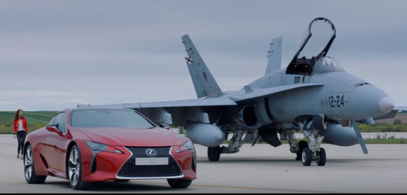 Lexus Lc500 Vs F 18 Fighter Jet Video Dpccars