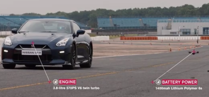 2017 Nissan GTR vs GTR Drone – Video