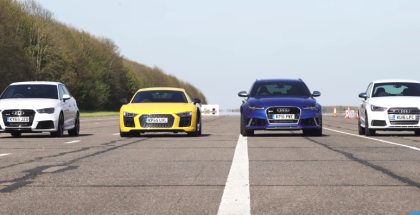 Drag Race - R8, RS6, RS3, S1, RS2 and Ducati (1)