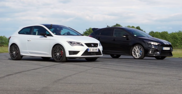 drag race ford focus rs vs seat leon cupra 290 video. Black Bedroom Furniture Sets. Home Design Ideas