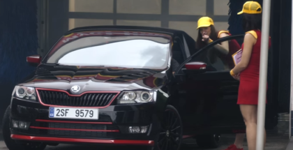 Skoda Atero Coupe Concept car wash prank (1)