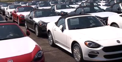 2017 Fiat 124 Spider Roadsters Arrive in US