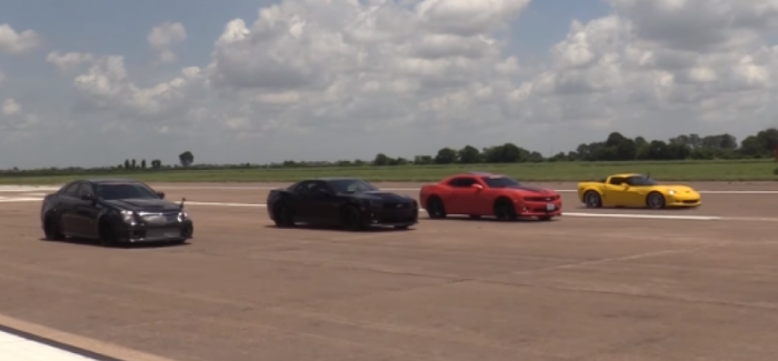 4 Cars Half Mile Drag Race – Video