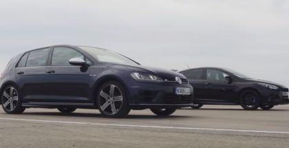 Drag Race - Ford Focus RS vs Volkswagen Golf R (1)