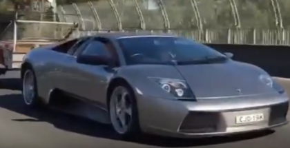 Lamborghini murcielago pulling goats in the trailer (1)
