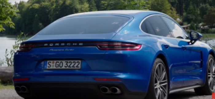 2017 Porsche Panamera Turbo Sapphire Blue Metallic Video