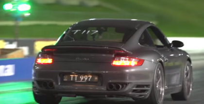 Drag Race - 10 sec Twin Turbo Porsche VS 10 sec Audi RS6 (1)