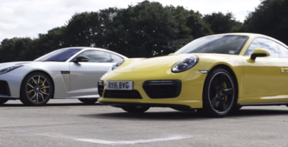 Drag Race - Jaguar F-Type SVR vs Porsche 911 Turbo (1)