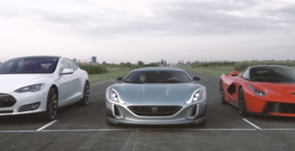 Drag Race - Rimac Concept One vs LaFerrari vs Tesla P90D (3)