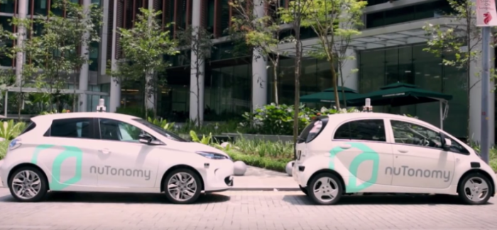 First Self Driving Singapore Taxi In Action – Video