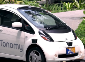 First Self Driving Singapore Taxi In Action (2)