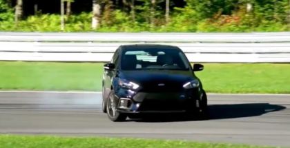 Ford Focus RS In Drift Mode On Racetrack (1)