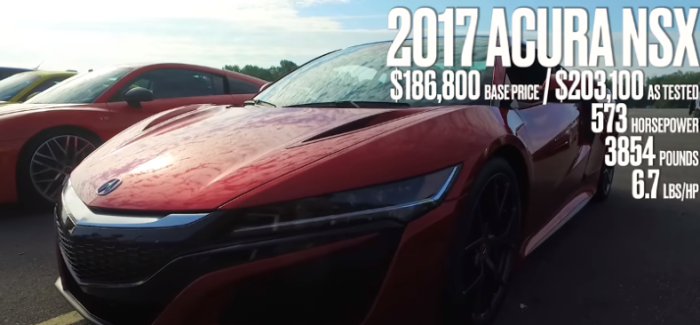 Acura Nsx Car And Driver Lightning Lap Video
