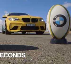 BMW M2 Rugby Team Driving and Throwing Challenge (2)