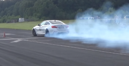 BMW M4 drag race Fail (1)