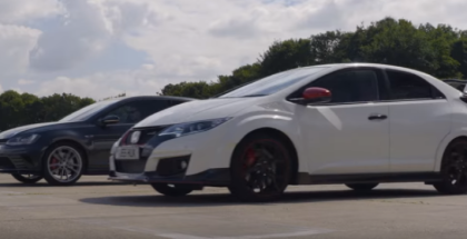 Drag Race - Civic Type R vs Golf GTI Clubsport S (1)