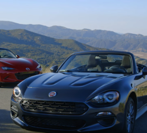 motor trend 2017 fiat 124 spider vs miata review video. Black Bedroom Furniture Sets. Home Design Ideas