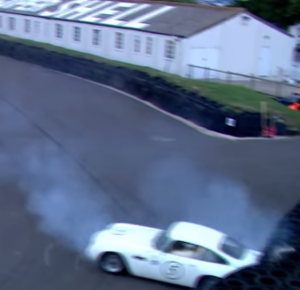 Rare Aston Martin DB4 GT crash (2)