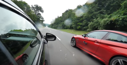 Rolling Street Race - Lexus RC F vs BMW M4 (1)