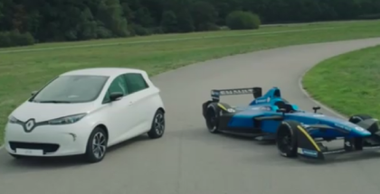All Electric 2016 Formula E Renault Z.E.16 and Renault ZOE (1)