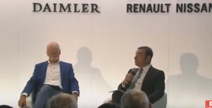 Dr. Dieter Zetsche and Carlos Ghosn Daimler & Nissan Press Conference (1)