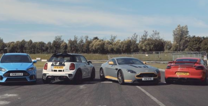 Manual Trabns Mini JCW Challenge, Ford Focus RS, Aston Martin V12 Vantage S, Porsche Cayman GT4 (1)